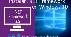 Instalar .NET Framework Windows 10 desde panel de control