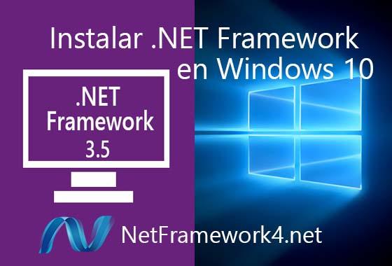 Instalar .NET Framework Windows 10 desde panel de control